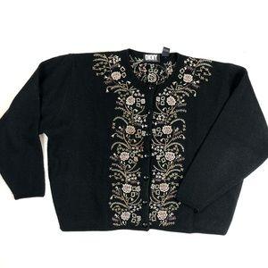 Vintage Donna Karan DKNY Knit Wool Sweater